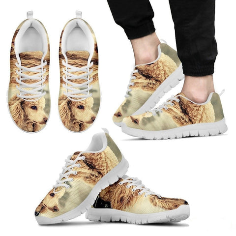 Cute Poodle Dog-Running Shoes For Men-Free Shipping-Paww-Printz-Merchandise