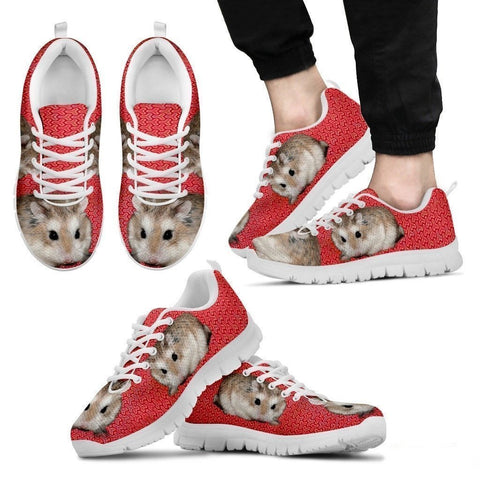 Roborovski Hamster (Black/White) Running Shoes For Men-Free Shipping Limited Edition-Paww-Printz-Merchandise