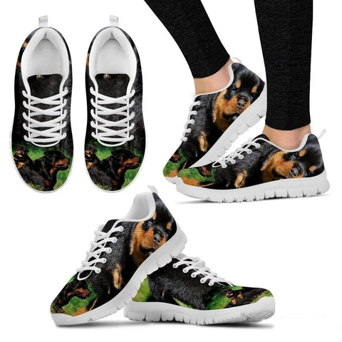 Rottweiler Dog-Running Shoes For Women-Free Shipping-Paww-Printz-Merchandise