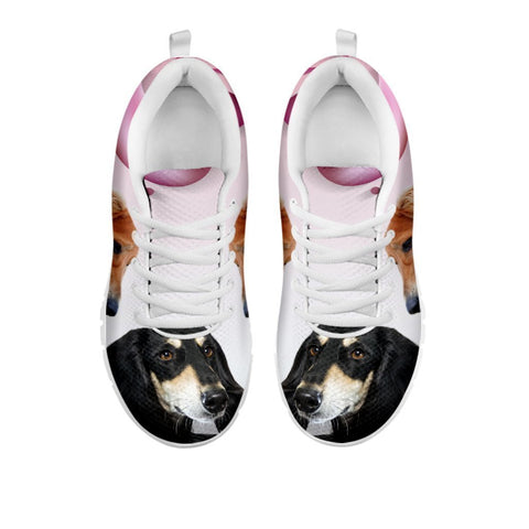 Amazing Black Saluki Dog Print Running Shoes For Women-Free Shipping-For 24 Hours Only-Paww-Printz-Merchandise