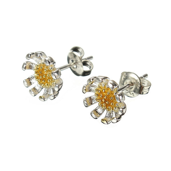 925 Silver Beautiful Sunflowers Earrings