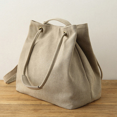 Canvas Casual Handbag Shoulder Bag Bucket Bags