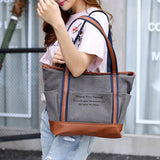 Canvas Casual Handbag Outdoor Shopping Bag Shoulder Bags For Women