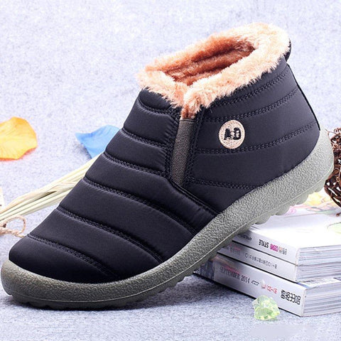 New Warm Waterproof Cloth Slip On Casual Boots