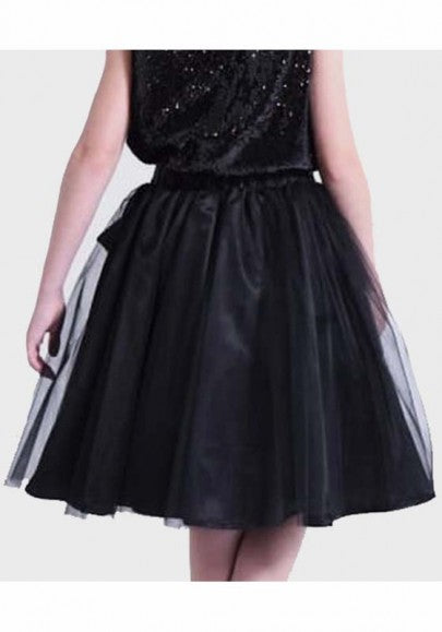 2018 Black Grenadine Draped Sashes Fluffy Puffy Tulle Homecoming Party Sweet Skirt