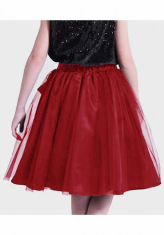 2018 Burgundy Grenadine Draped Sashes Fluffy Puffy Tulle Homecoming Party Sweet Skirt