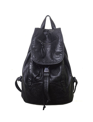2017 New Women Casual Zip Trim Drawstring Trim Backpack