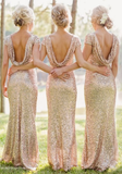 2017 New Women Gold Backless long Dress Sexy Party Bridesmaid Dress