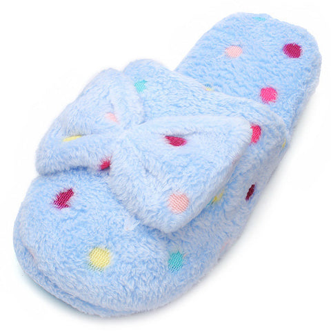 Cute Bowknot Cotton Slippers