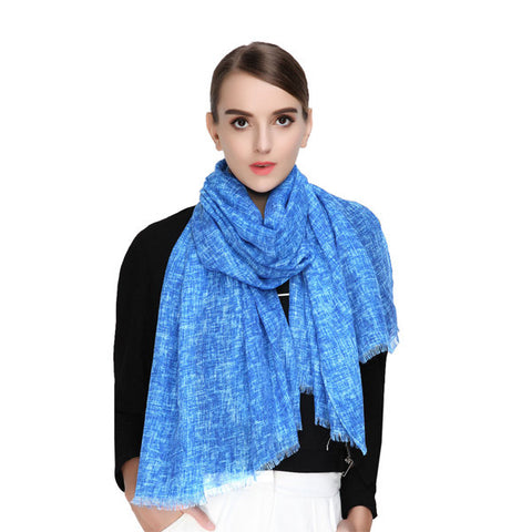 LYZA Autumn Warm Literary Fresh Scarf Colorful Casual Light Thin Shawl For Women
