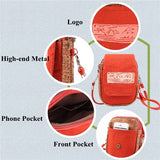 Casual Canvas National Style Small Crossbody Bag Phone Bag Shoulder Bags