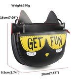 Women Cute Cartoon Crossbody Bag Shoulder Bag PU Leather Little Bag Dating Bag