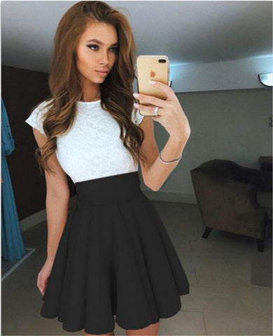 New Women Pleated Sewing High Waisted Fashion Slim Skirt