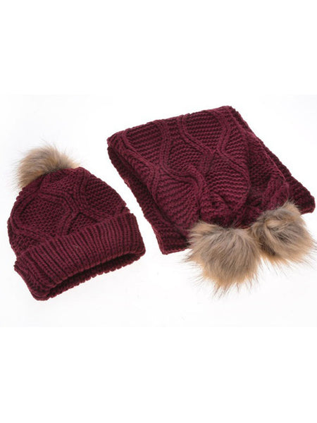Warm Knit Scarf And Hat