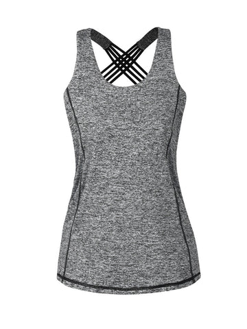 X-Back Workout Round Neck Sleeveless T-Shirt