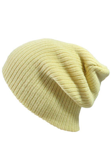 Plain Color Warm Knit Pullover Hats