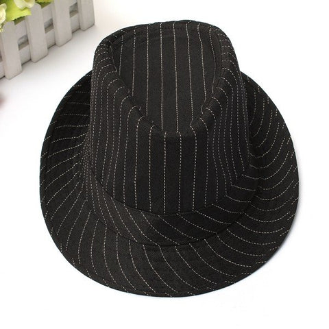 Chic Vintage Unisex Cotton Fedoras Trilby  Hats Flat Top Roll Brim Bucket Jazz Caps