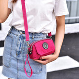 Women Nylon Clutches Bags Girls Mini Shoulder Bags Front Pocket Crossbody Bags