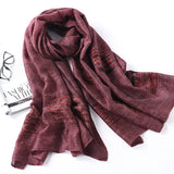 LYZA 200CM Women's Fashion Shawl Winter Warm Large Scarf Wool Sacrvers Dual Use