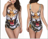 2017 New Women Bikini Bodysuit Digital Printing Swimwear