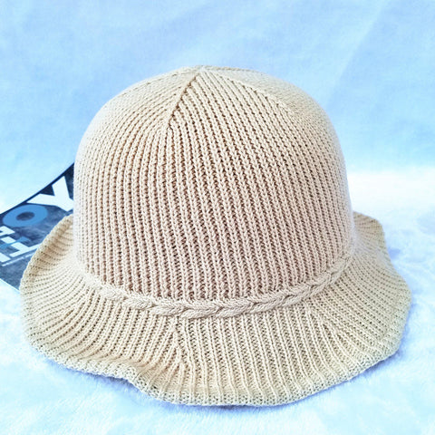 Dome Foldable Breathable Cotton Thread Beach Hat Outdoor Leisure Sunscreen Bucket Cap For Women