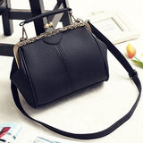 Women Vintage Hasp Bucket Bags PU Leather Crossbody Bags