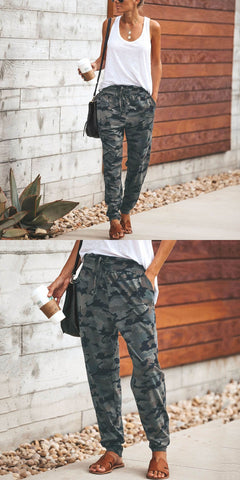 New Loverchic Fashion Camouflage Slim Casual Pants