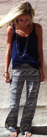 Harem Ethnic Print Sweatpants Women Pants