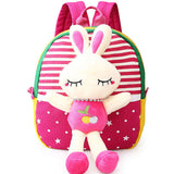 1-3 Years Old Kids Lovely Canvas Backpack Cartoon Animals Outdoor School Bag