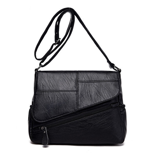Retro Multi-pockets PU Leather Crossbody Bag Shoulder Bags For Women