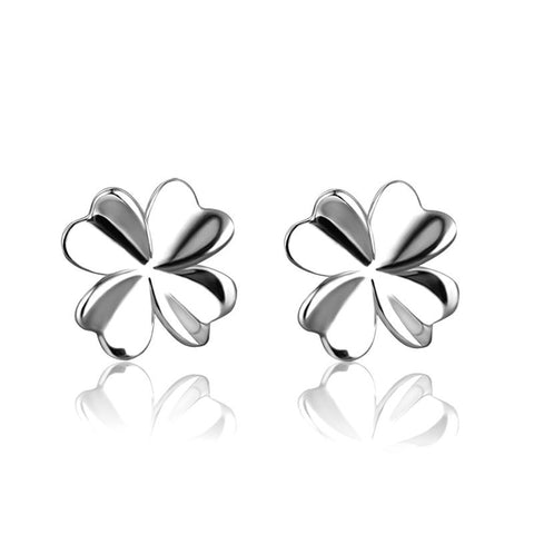 925 Sterling Silver Lovely Flower Earrings