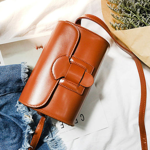 Women PU Leather Square Roma Crossbody Bag Messenger Bag
