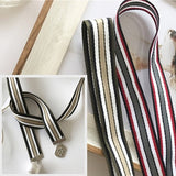 Women Llender Narrow Scarf Stripes Pendant Wild Small Scarf