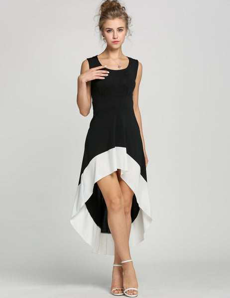 Deep U Neck Backless Swallow Tail Sleeveless Going Out Dress