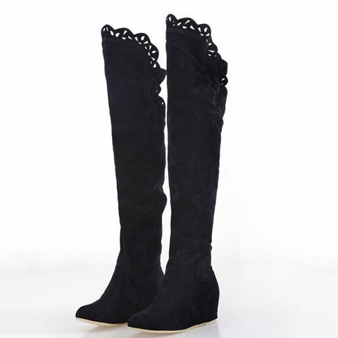 Cheap Fashion Women Korean Over Knee High Long Boots Shoes Official Online