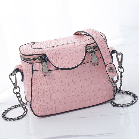 Stylish Stone Pattern Square Shoulder Bag Phone Bag Chain Crossbody Bag For Women