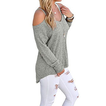 5 Color Plain Condole Belt V-neck Loose Pullover Sweater