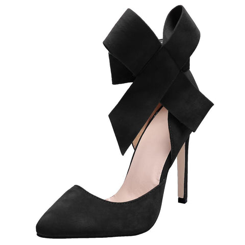 Fashion Sexy Women Stiletto High Ankle Bowknot Pointed Toe Pump Sandal Party Shoes Size 37-40 Heels