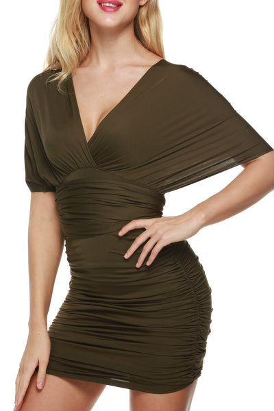 Multi Way Bandage Wrap Bodycon Ruched Going Out Dress