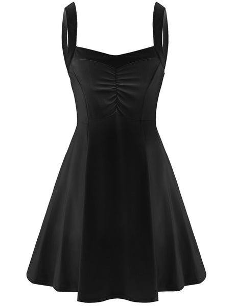 Strap V-Neck High Waist Sundress A-line Going Out Dress