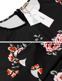 Short Sleeve Slim Print O Neck Sexy Going Out Dress