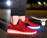 Green Unisex LED Light Lace Up Sportswear Sneaker Casual Other Shoes