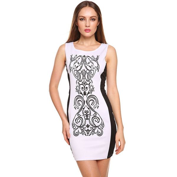 Sexy Bodycon Bandage Sleeveless Dress Casual Party Evening