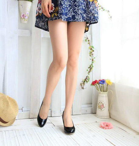 Round Toe Shoes Medium Heels Pumps Classic Shoes