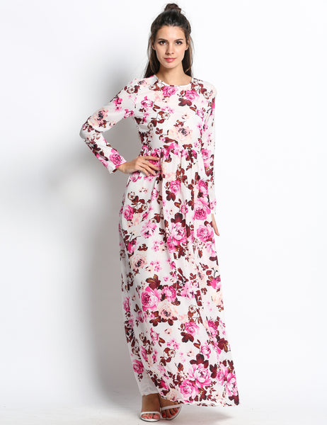 Floral Printed Long Sleeve arty Cocktail Casual Dress