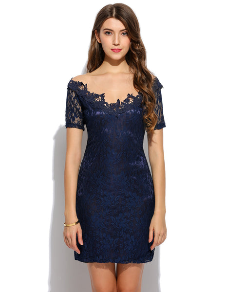 Three-dimensional Lace Embroidery Bodycon Going out Party dress