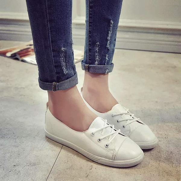 Casual Shallow Mouth Lace-up Round Toe Sneaker Shoes