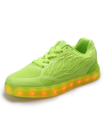 Mesh LED Light Up Round Toe Sneakers
