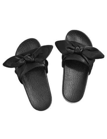 Bow Beach Casual Slip-on Slipper Flat Sandals