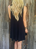 Fashion Over Size Casual  Sleeveless Dress